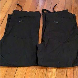 Two pair of black Landau XS black scrub pants
